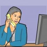 phone-woman-at-work