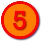 round-orange-number-5