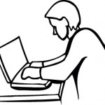 line-drawing-computer-student