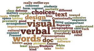 verbal visual design wordle