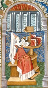 Christine de Pizan in her study cell