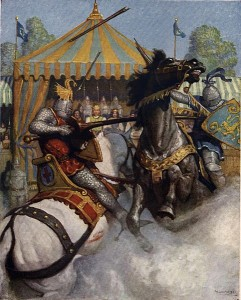 Boys_King_Arthur_-_N._C._Wyeth_-_p246 joust WC CC
