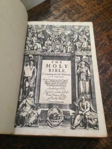 1st pg Bible KJV 1611 ebay