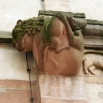 Andlau Church of St Peter St Paul monster gargoyle Grendel mother by Juergen Kappenberg of Pirmasens, Germany WC CC3