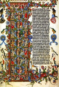Bible of Wencelaus entire page WC pd 1389