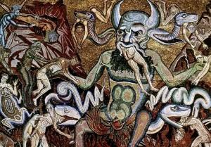 Coppo_di_Marcovaldo,_Inferno canto 34 c1301 mosaic Hell devil WC pd