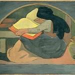 Serusier's 1892 The Grammar woman writing book pub dom