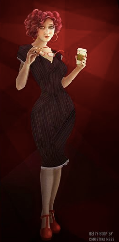 Betty Boop, redesign by Christina Hess