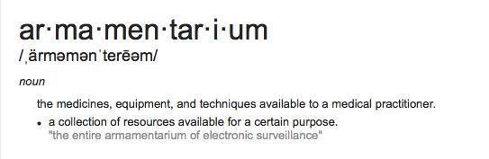 armamentarium from google