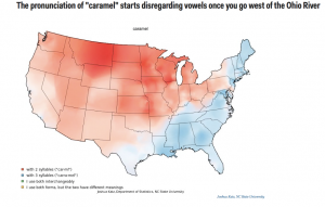 linguistics caramel map