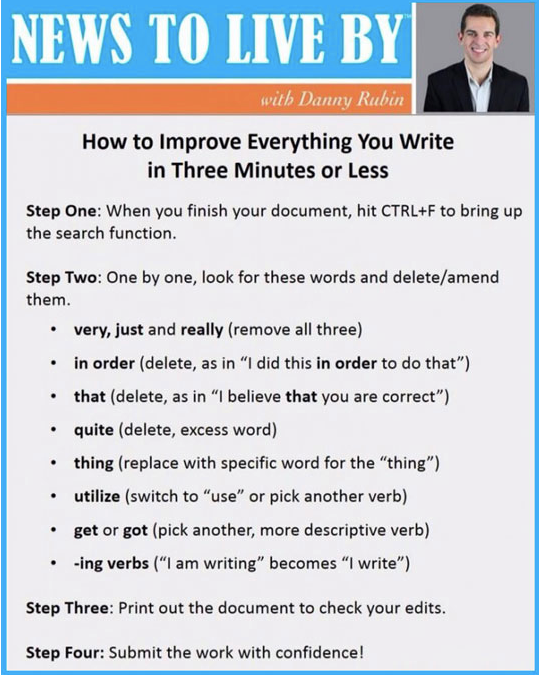 improve writing 3 minutes or less